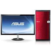 华硕 M31AD-I4454M1 台式电脑 (i5-4440 4G 500GB GT620 2G独显 DVD DOS 中国红)23英寸
