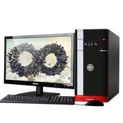 清华同方 精锐X850H-BI02 台式电脑(四核i5-4460 4G 500G GT705独显 前置USB3.0 win7)