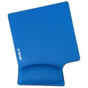 宜客莱 MPD-014PBL蓝色 14°人体工学护腕型鼠标垫(超大舒适款)护腕托 减少疲劳避免鼠标手中大手适合