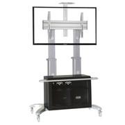 NB AVG1800-70-1P(55-70英寸)豪华液晶电视移动落地推车视频会议系统机柜 银色