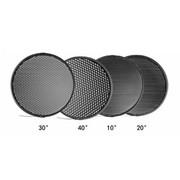 金贝 蜂窝网套装 55度便携标准灯罩专用 (10度20度30度40度)摄影器材 蜂巢罩