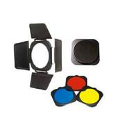 金贝 JB-A附件 四叶挡光板+蜂窝网+红黄蓝色片 55度标准灯罩专用
