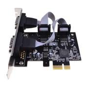 魔羯 MC2353 台式机PCIEx1转2路RS232串口卡 牛津半导体芯片OXPCIe952更稳定