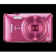 尼康 COOLPIX S6900 卡片式数码相机(1600万像素/翻转触摸屏/12倍光变/NFC)粉色