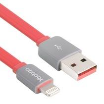 羽博 多彩YB-406 苹果5S/iPad4 USB数据线/充电线 80厘米版 红色产品图片主图