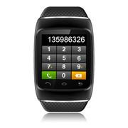 酷道 S12触屏蓝牙智能手表手环腕表计步器智能穿戴免提通话手机伴侣 黑色