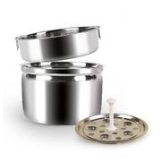 十度良品 SD-937S蒸煮电热饭盒 双层不锈钢内胆真空保鲜插电定时加热保温饭盒 1.3L