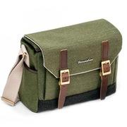 哈林伯尼 H1001 波斯曼系列  韩国进口 摄影包 单肩背 帆布+纯皮 小号 橄榄绿