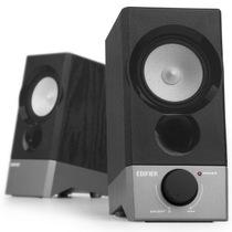 漫步者 R19U 木质纯音2.0迷你桌面音响 黑色产品图片主图