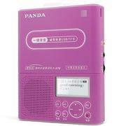 熊猫 F-376 中英文同步显示高保真复读机 u盘MP3磁带录音机学生英语学习机插卡播放器(红色)