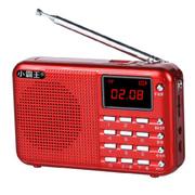 小霸王 便携式插卡音响PL-610 FM收音机迷你小音响老人带MP3音乐播放器外放小音箱 红色 加16G卡