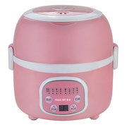 麦卓 Makejoy多功能酸奶机蒸煮电热饭盒MJ-2011双层加热保温饭盒不锈钢内胆插电保温 三层咖啡色