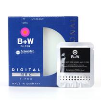 B+W 77mm 486UV-IR-CUT多层镀镆红外 UV镜 滤镜+镜头纸组合产品图片主图