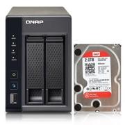 威联通 TS-269L升级版含WD2T红盘 2盘位网络存储 双核浮点运算2.13GHz CPU