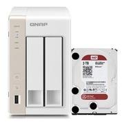 威联通 TS-269H NAS两盘位网络存储 安装WD3T红盘 双核浮点运算1.6GHz CPU