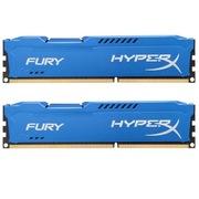 金士顿 骇客神条 Fury系列 DDR3 1600 8GB(4GBx2)台式机内存(HX316C10FK2/8)蓝色