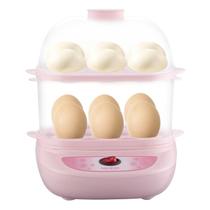 麦卓 Makejoy煮蛋器MJ-2116蒸水蛋7蛋容 不锈钢发热盘配蒸蛋架蒸蛋碗 2110粉双层产品图片主图