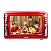 金正 视频播放器6912A 11英寸高清屏扩音器老人唱看戏机 多功能收音机移动DVD影碟机 红色 标配