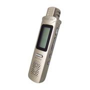 紫光 电子ZD-801声控8G录音笔远距离MP3播放器一键录音中文菜单复读外放 香槟金送立体声耳机+袋+充电头