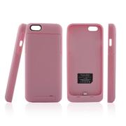 影巨人 苹果iPhone6 4.7寸背夹电池 移动电源 背夹式直插 充电宝 无线便携超薄 粉色