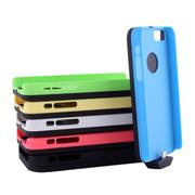 影巨人 P8803 苹果iPhone 5/5c/5s 背夹式电池壳 移动电源充电宝 直插背夹 电池壳+蓝色保护壳+绿色保护壳