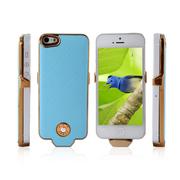 影巨人 P8815 苹果iPhone5/5s 背夹式电池壳 5S移动电源 5S充电宝直插背夹 蓝色