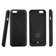 影巨人 苹果iPhone6 4.7寸背夹电池 移动电源 背夹式直插 充电宝 无线便携超薄 黑色