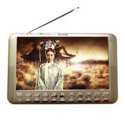 小霸王 视频扩音器S12 9寸高清视频扩音器唱看戏机音响 内置锂电FM收音机铝合金外壳双喇叭 金色 标配