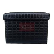 趣行 折叠耐压型车用后备箱储物整理箱 小号28升黑色储物凳