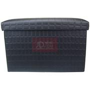 趣行 折叠耐压型车用后备箱储物整理箱 大号40升黑色储物凳