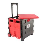 兵尼兔 汽车多功能收纳车 车载便携式手推车后备箱储物箱整理箱