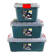 沃特斯 车载储物箱 汽车收纳箱 后备车用整理箱 高强加厚 推荐-限量版墨绿 RV-400小号*灰色