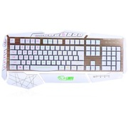 达尔优 掠夺者机械手感游戏键盘 白色