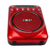 小霸王 迷你插卡音箱S01 报话器老人听戏收音机扩音器MP3播放器录音外放小音响导游促销用 红色 加8G卡