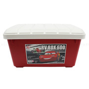 爱丽思 汽车收纳箱 车用车载整理箱 汽车储物箱用品 后备箱置物箱 普通600-红色