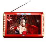 小霸王 视频播放器S16 9英寸高清视屏视频机全格式看唱戏外置机4000毫安更换电池 大红色 加16G戏曲广场舞卡