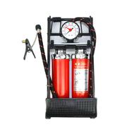 风王 脚踩打气筒 高压胎压表 汽车用车载打气泵 双缸充气筒 脚踏充气泵