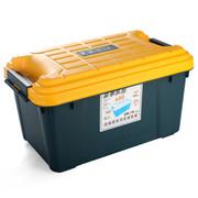 亿高 汽车收纳箱 车用后备箱储物箱 车载整理箱 置物箱 塑料工具箱子 水墨绿 EK-680 55L