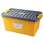 亿高 汽车收纳箱 车用后备箱储物箱 车载整理箱 置物箱 塑料工具箱子 芒果黄EK-630