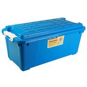 亿高 汽车收纳箱 车用后备箱储物箱 车载整理箱 置物箱 塑料工具箱子 天空蓝 EK-881 75L