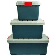 沃特斯 车载储物箱 汽车收纳箱 后备车用整理箱 高强加厚 推荐-限量版墨绿 RV-600B中号*灰色