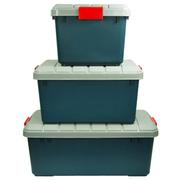 沃特斯 车载储物箱 汽车收纳箱 后备车用整理箱 高强加厚 推荐-限量版墨绿 XY-900长条*绿色