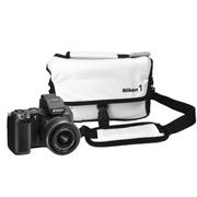 尼康 微单相机包V1 V2 V3 L820 J3 J4 P530 P520 P600摄影包 白色/PU相机包