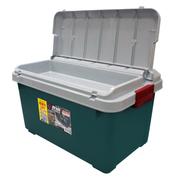 爱丽思 汽车收纳箱 车用车载整理箱 汽车储物箱用品 后备箱置物箱 双盖600-灰绿