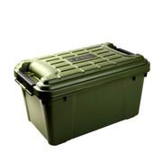 亿高 汽车后备箱储物箱 车载整理箱收纳箱 车用工具箱 自驾装备 战地绿 480小号