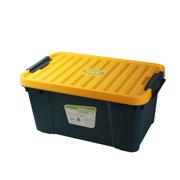 亿高 汽车用后备箱储物箱 车载整理箱载收纳箱 车用工具箱 环保塑料 水墨绿 EK-630大号