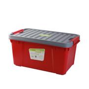 亿高 汽车用后备箱储物箱 车载整理箱载收纳箱 车用工具箱 环保塑料 悦动红+灰盖 EK-430小号