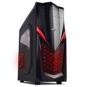 爱国者 魔兽1豪华版机箱黑色(标配一个12CMLED静音风扇/USB3.0/侧透)