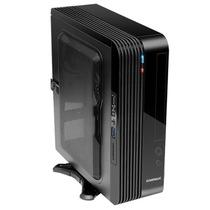GAMEMAX 小灵越ITX迷你机箱电源套装  U3/读卡器 黑色(仅支持ITX主板/标配200W 1U电源)产品图片主图