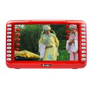 小霸王 高清数字看戏机可视播放器SU-8888A 9.8英寸屏收音录音数字点歌TF卡锂电扩音 红色标配+8G戏曲广场舞卡